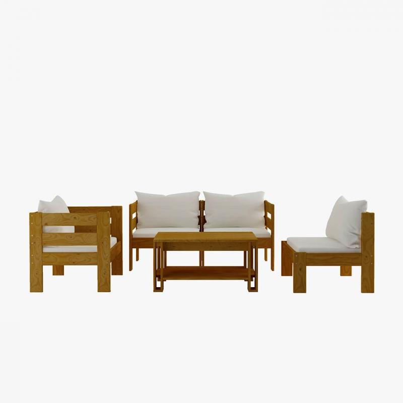 Caisse de base individuelle en bois poli
