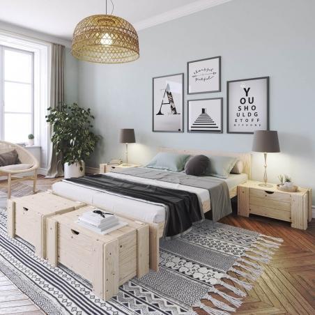 Composition lit individuel avec tiroir