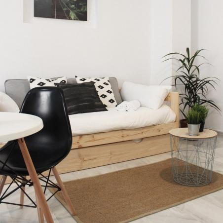Stapelbed met lattenbodems en twee bedlades