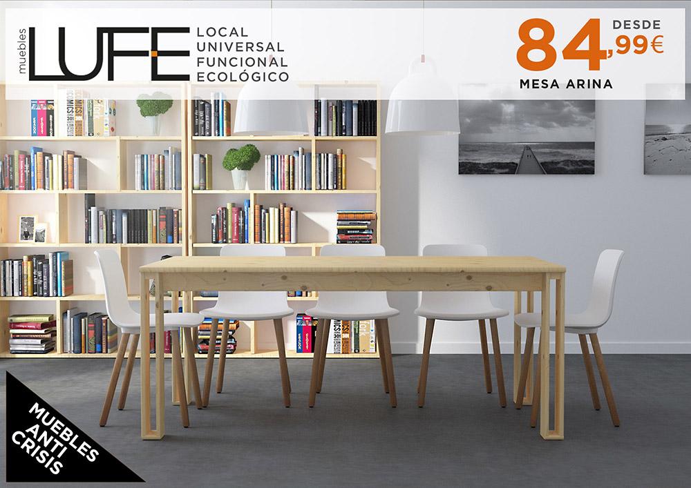 Descubre las nuevas mesas de muebles lufe mesa arina - Muebles lufe azpeitia ...