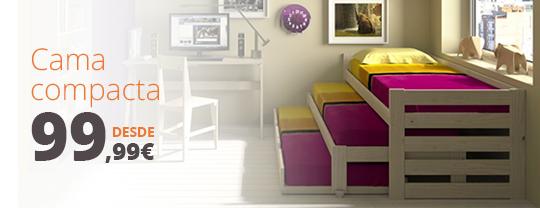 Cama nido triple blog muebles lufe for Cama nido de tres camas