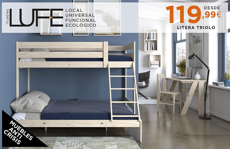 Ejemplo de convivencia blog muebles lufe - Litera con cama de matrimonio ...