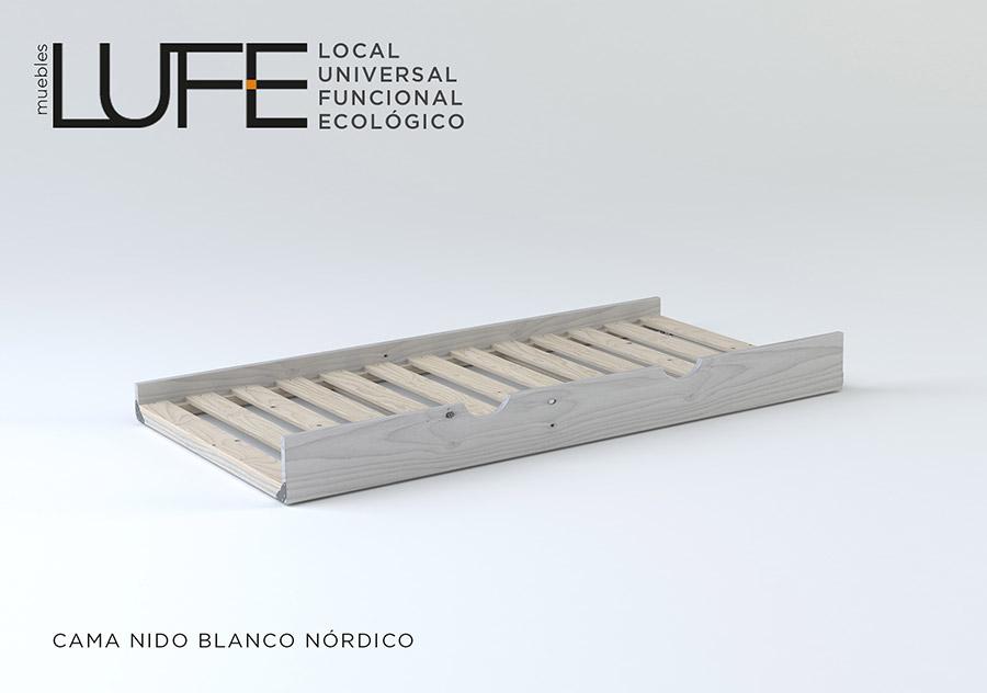 Base de cama individual de madera muebles nuevos y for Base cama individual