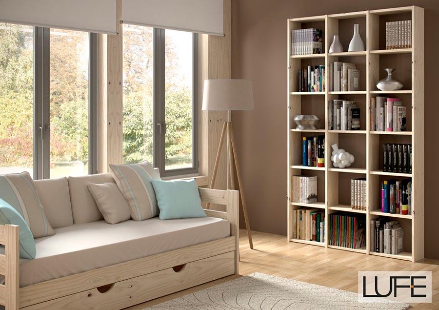 Comprar sof cama barato de madera ecol gica pulida for Sillon cama con cajones