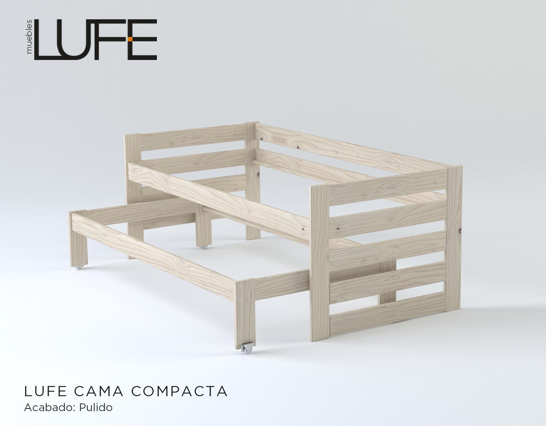 Comprar camas compactas de madera ecol gica pulida - Camas compactas con cajones ...
