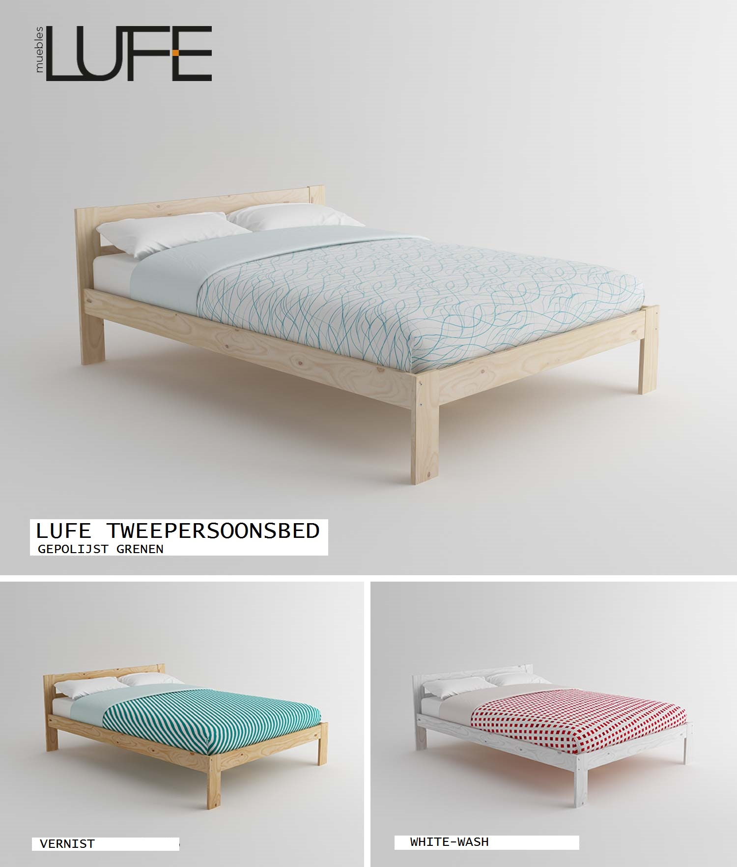 I Am Lufe Tweepersoonsbedframe Lufe Meubles Lufe Blog # Muebles Acabado Wash