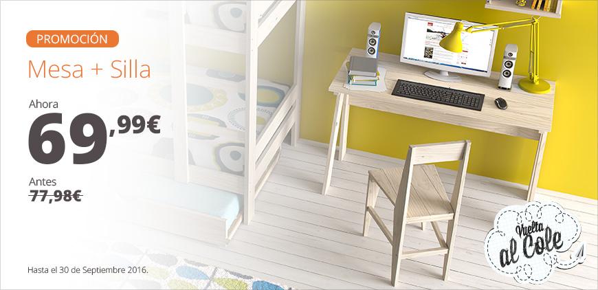 Ofertas en muebles juveniles baratos de madera ecol gica for Oferta silla escritorio