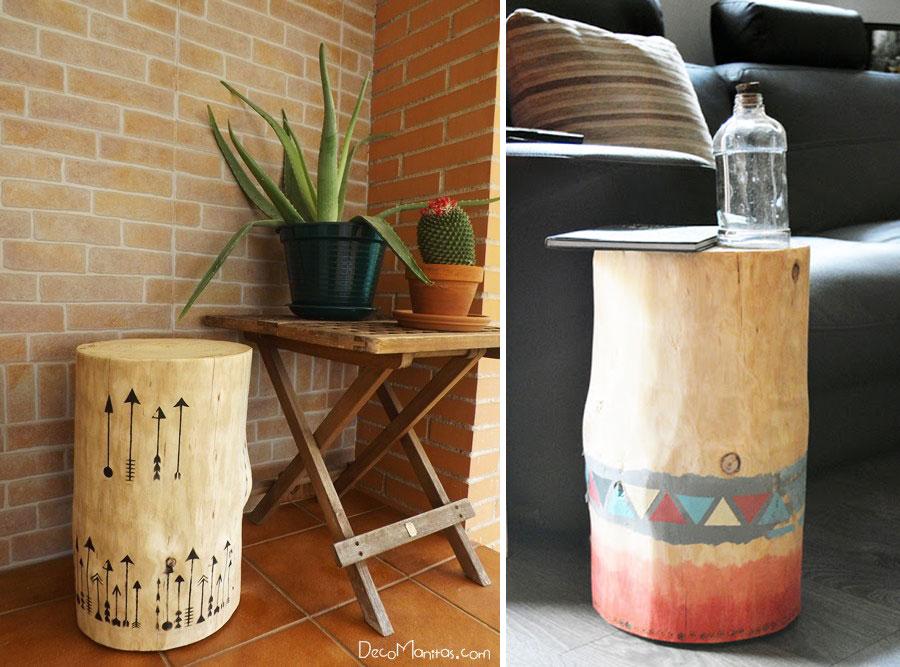 Paredes de ladrillo decoracion for Muebles con troncos