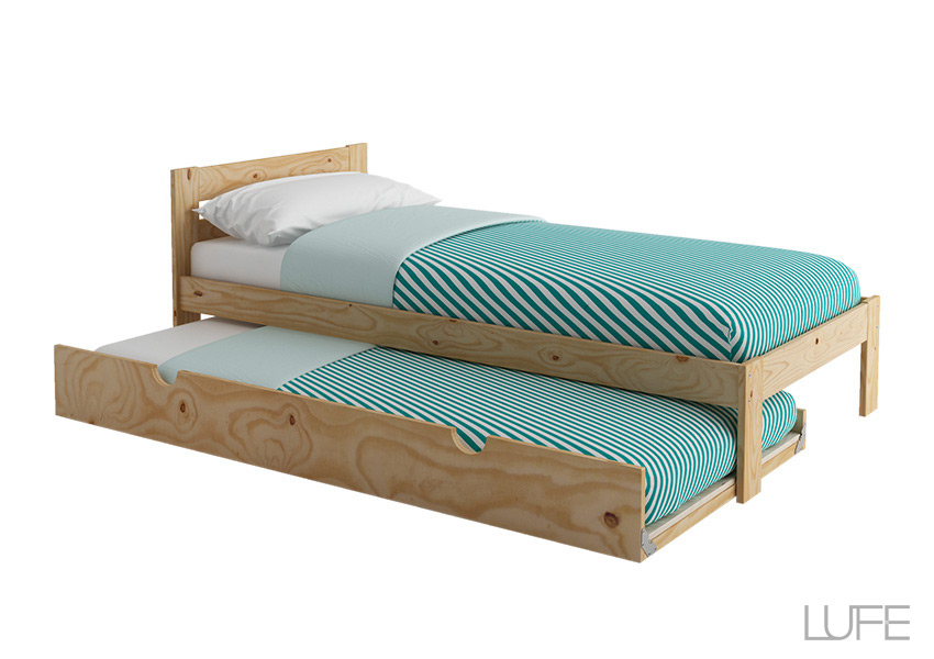 Comprar cama nido de madera ecol gica pulida barnizada o - Camas dobles juveniles ikea ...