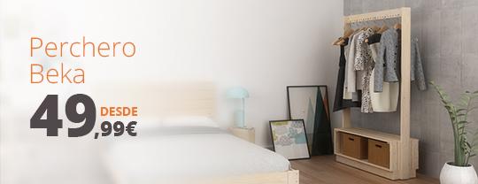 percheros de madera para dormitorios por menos de 50 euros