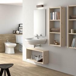 Ambiente de mesa y bancos de madera maciza - Salones modernos - Muebles LUFE