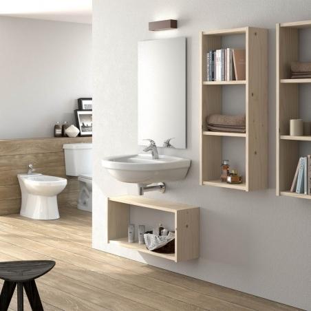Ambiente de mesa y bancos de madera maciza - Muebles LUFE