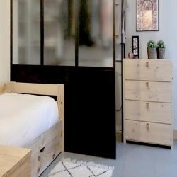 Arrastre nido 80 con colchón - Serie 80 - Muebles LUFE