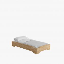 Cama apilable con colchón + barrera de protección - Vuelta al cole, con Muebles LUFE. - Muebles LUFE