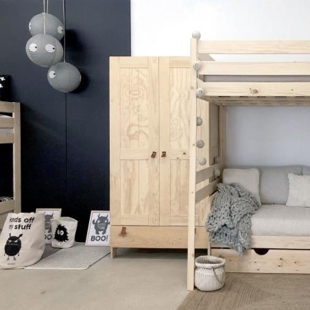 Cama 105 a ras del suelo con colchón - Muebles LUFE