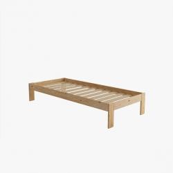 Cama de matrimonio con lamas - Renueva tu dormitorio con nuestras camas y literas - Muebles LUFE