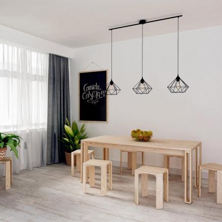 Cama nido compacta de lamas barata y de madera ecol gica for Estructura cama 90x200