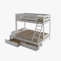 Cama de matrimonio completa con cajón - Renueva tu dormitorio con nuestras camas y literas - Muebles LUFE