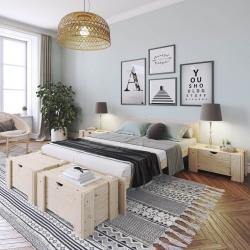 Litera 90 con nido y colchones - Renueva tu dormitorio con nuestras camas y literas - Muebles LUFE