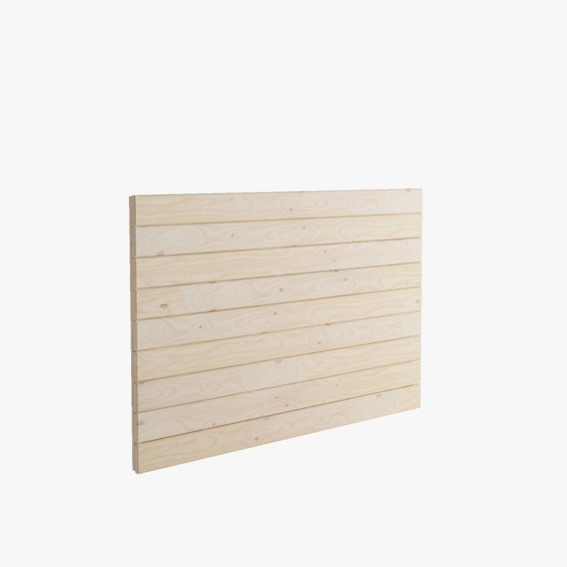 Estanter a alta ancha asim trica de madera maciza para for Muebles lufe estanterias