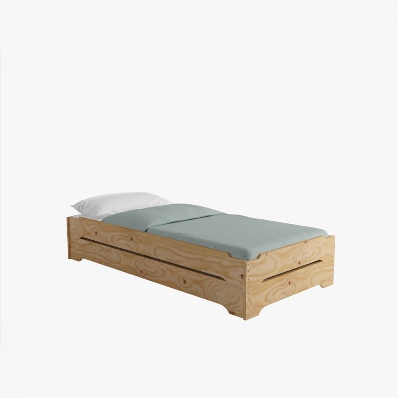 Estanter a de madera barata alta y ancha en forma de cubo for Muebles lufe estanterias