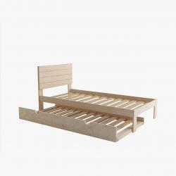 Cama 90 con dos cajones - Camas individuales - Muebles LUFE
