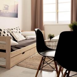 Cama 90 con lamas y cajones - Camas individuales - Muebles LUFE