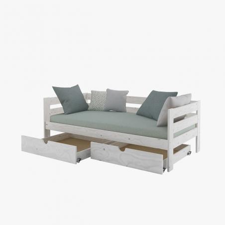 Cama nido 90 con lamas - Muebles LUFE