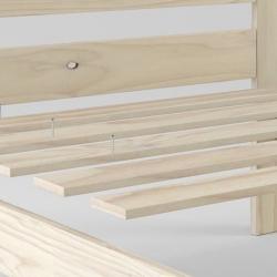Bancada nido 90 con lamas - Camas individuales - Muebles LUFE