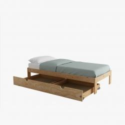 Bancada cama 90 con cajón y colchón - Camas individuales - Muebles LUFE