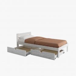 Bancada de cama de matrimonio completa con cajones - Camas de matrimonio - Muebles LUFE