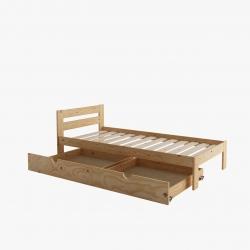 Cama compacta con lamas y cajón largo - Renueva tu dormitorio con nuestras camas y literas - Muebles LUFE