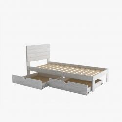 Litera 90 con cajones y colchones - Renueva tu dormitorio con nuestras camas y literas - Muebles LUFE