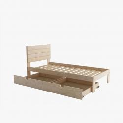 Litera 90 con cajón y colchones - Renueva tu dormitorio con nuestras camas y literas - Muebles LUFE