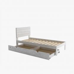 Cama de matrimonio con lamas y cajón largo - Renueva tu dormitorio con nuestras camas y literas - Muebles LUFE