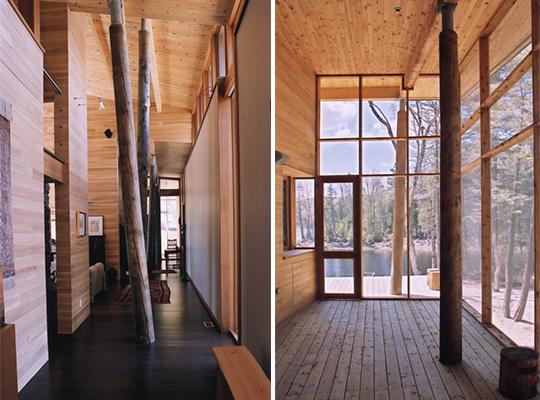 Vivienda de madera con troncos de rbol como vigas blog for El castor muebles