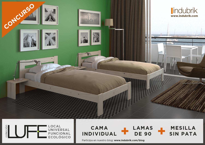 Consigue gratis una cama y una mesilla lufe blog for Cuales son las medidas de un colchon individual