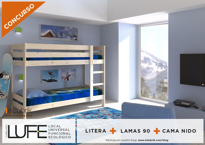 concurso Indubrik litera con cama nido coleccion luce