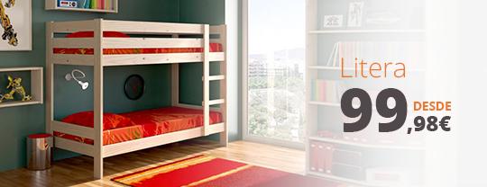 litera de madera barata para dormitorios juveniles