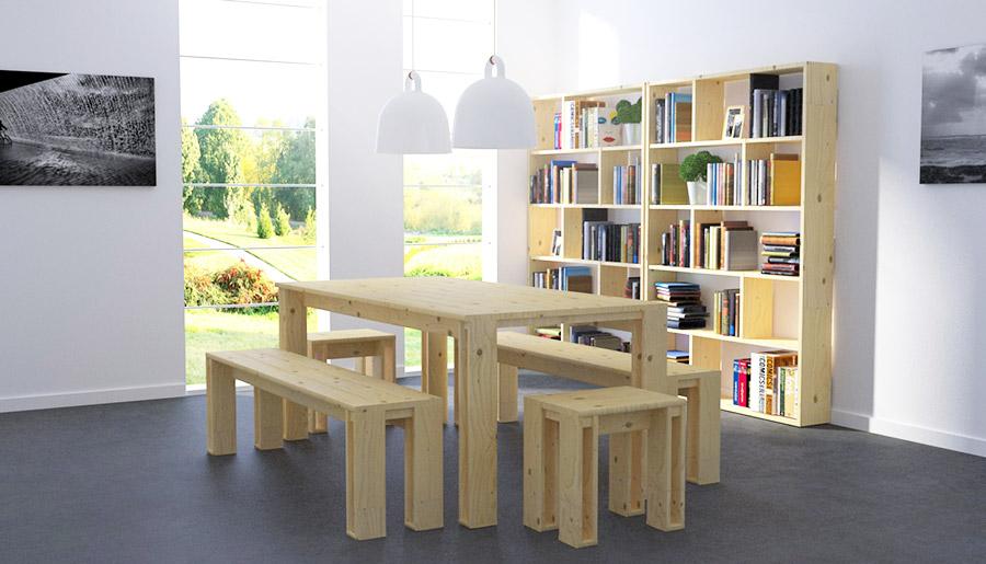 banco y mesa arina de muebles lufe
