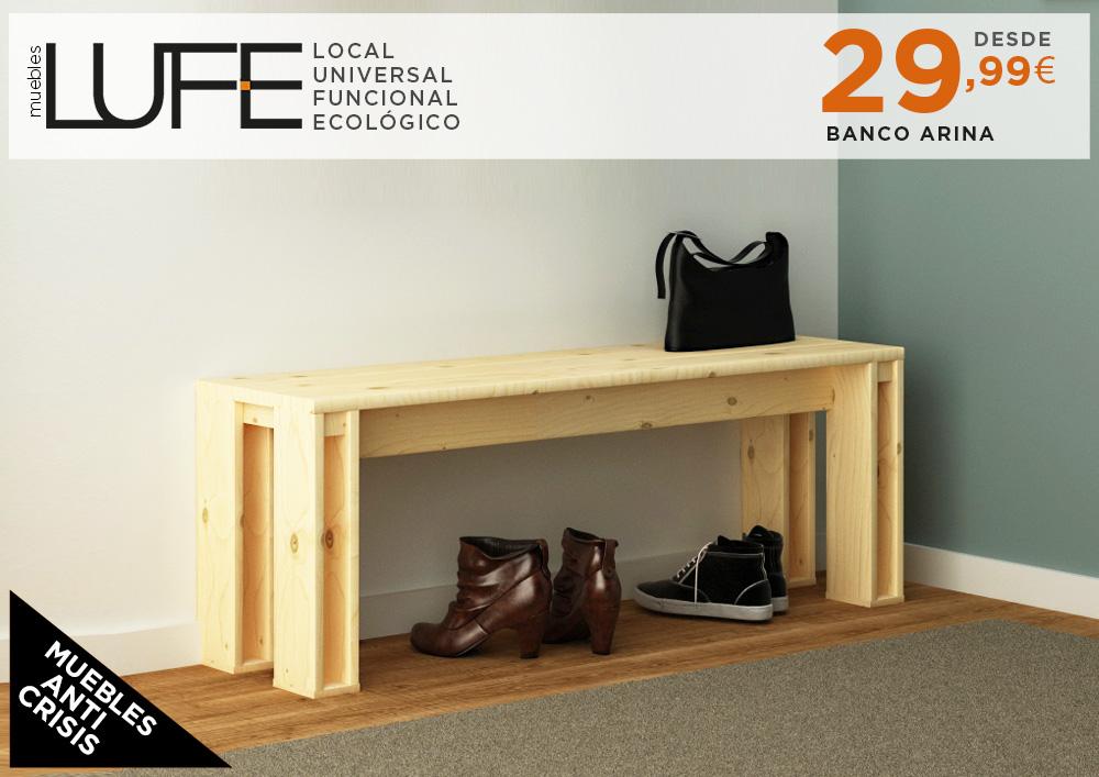 nueva gama banco arina muebles lufe