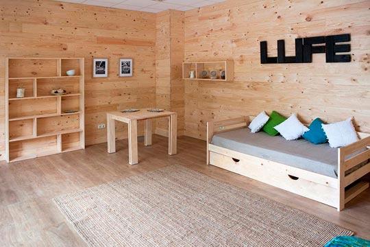 Imagen del showroom de Muebles LUFE