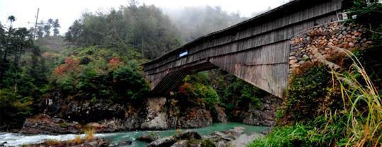 Imagen de uno de los puentes de madera de China
