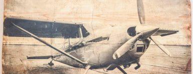 Ejemplo de imagen impresa sobre madera
