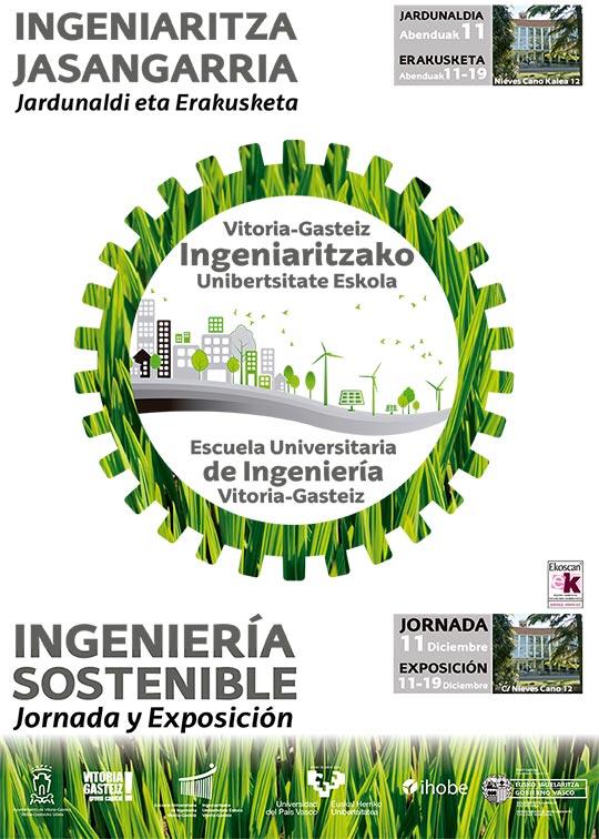 Cartel de la exposicion sobre ingenieria sostenible