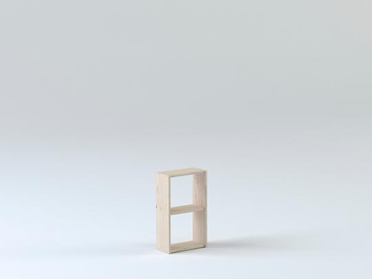 Imagen de la estanteria basica 40 de 3 baldas de Muebles LUFE