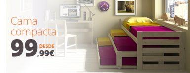 comprar cama compacta con nido tres camas