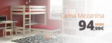 cama mezzanine de madera desde 94,99€