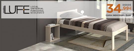 Cama individual Plus - Muebles LUFE