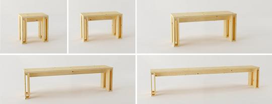 banco arina de madera en diferentes tamaños